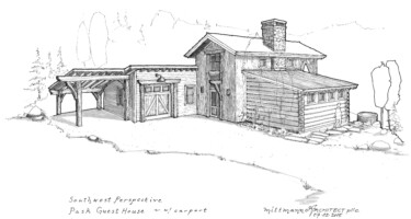 outside sketch of pask guest house